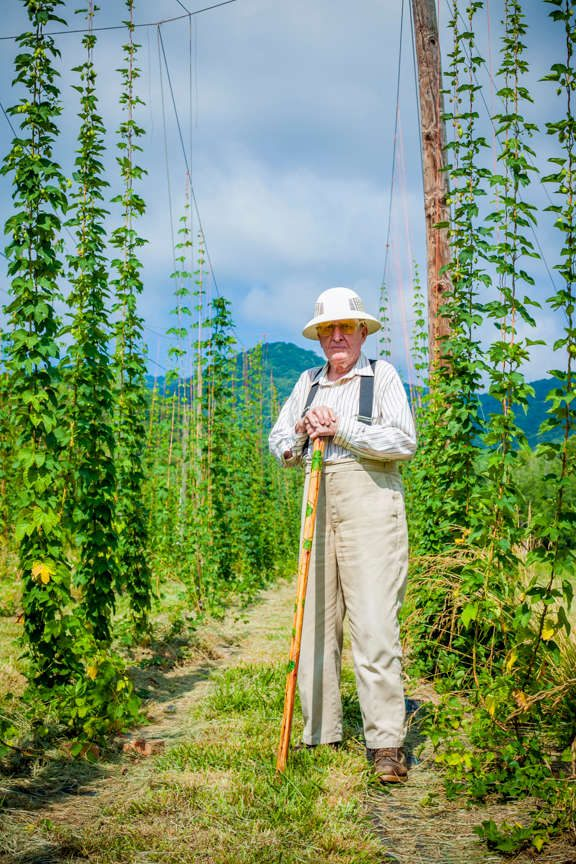 John Davis of Sticky Indian Hops Farm