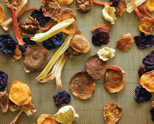 Beet chips, recipe by Ashley English.