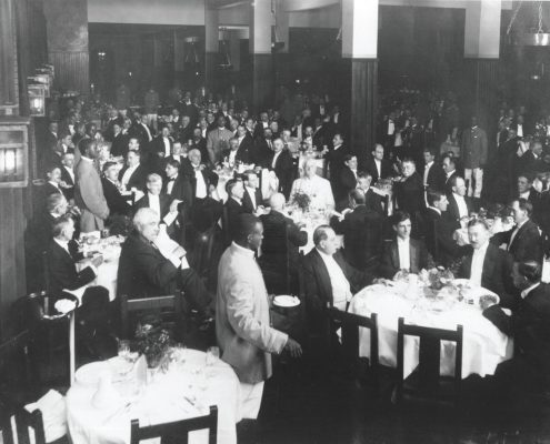 The grand opening banquet of the Grove Park Inn, July 12, 1913.