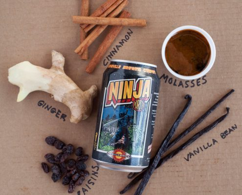 ingredients for Asheville Brewing Company's Ninjabread Man Porter