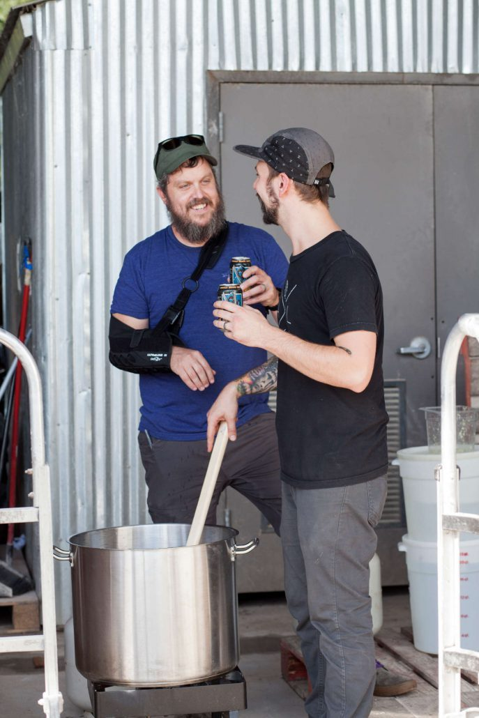 Pete Langheinrich and Kurtis Walsh of Asheville Brewing Company.