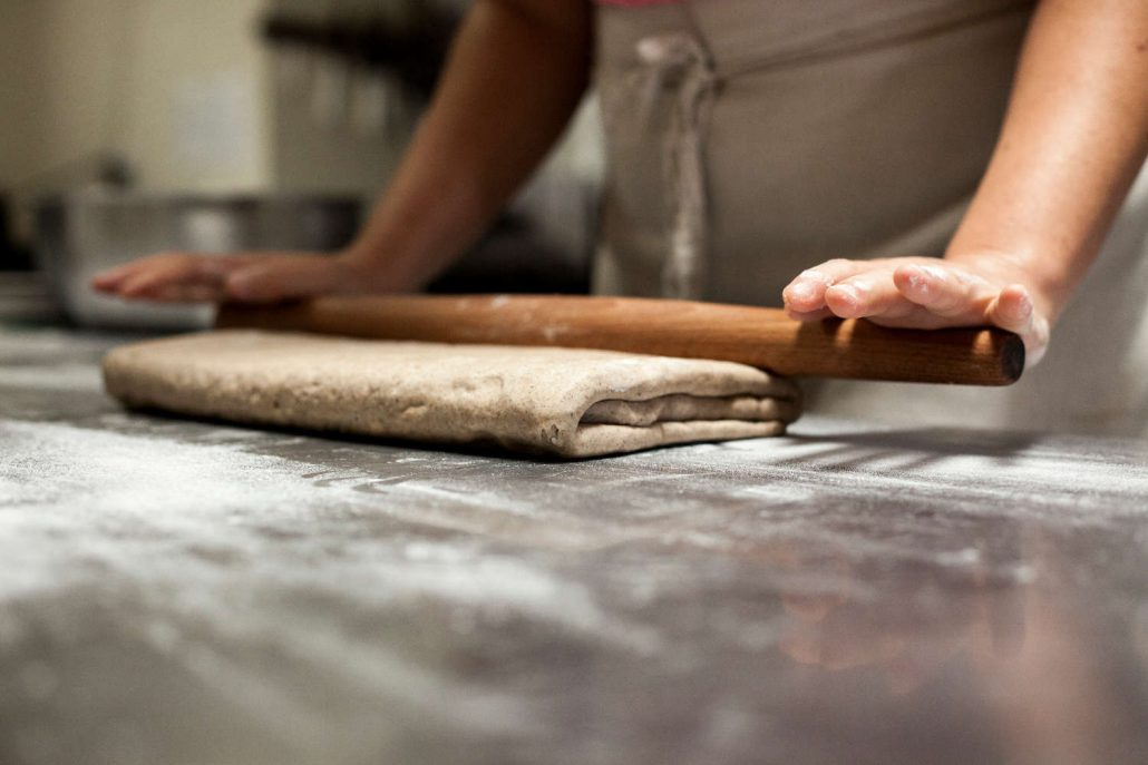 Croissant dough at OWL Bakery in Asheville