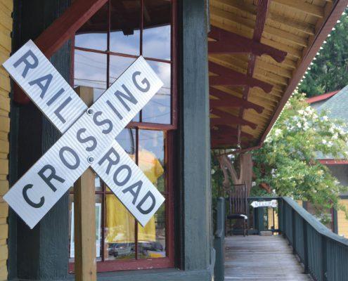 The railroad station in Saluda, North Carolina