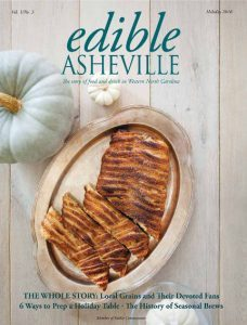 Edible Asheville Holiday 2017 cover